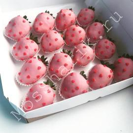 Набор клубника в шоколаде (розовый)