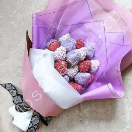 Букет из клубники в шоколаде (сиреневый)