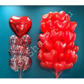 Фонтаны из шаров на 14 февраля