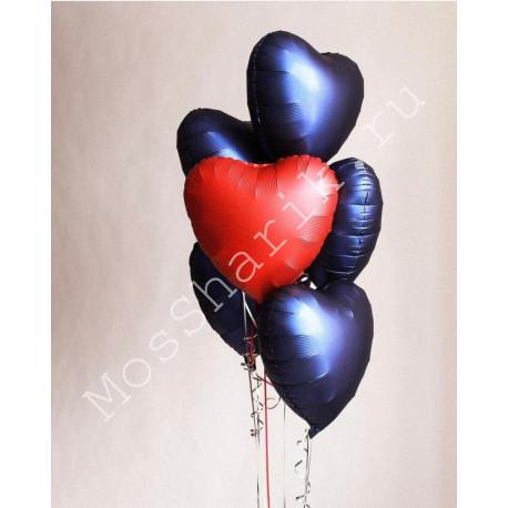 Фольгированные шары сердца