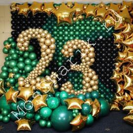 23 февраля оформление шарами