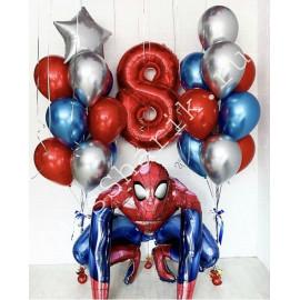 """На 8 лет: ходячий шар """"Человек паук"""" и два фонтана"""