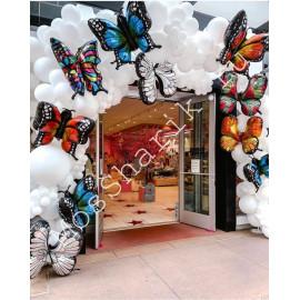 Арка с шарами бабочками фольгированными