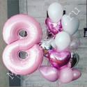 Композиция из шаров на 8 лет девочке