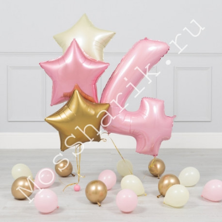 Композиция из шаров на 4 года девочке