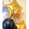 Композиция из шаров на 30 лет: цифры и фонтан со звездой с надписью