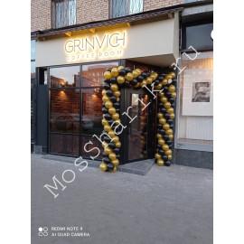 Оформление шарами открытие магазина на улице