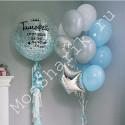 Гелиевые шары на выписку из роддома: большой шар с конфетти и фонтан