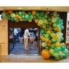 Гирлянда из разнокалиберных шаров желто-зелёная