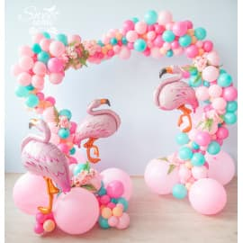 Гирлянда из разнокалиберных шаров