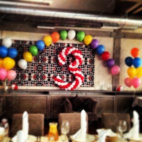 Оформление дня рождения шариками