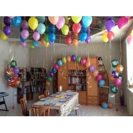 Оформление комнаты шариками