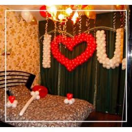 оформление комнаты воздушными шариками