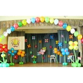 Цветочки из шариков на шторы