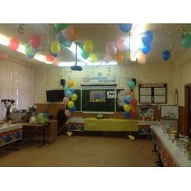 Два фонтана из шаров и 25 шариков под потолок