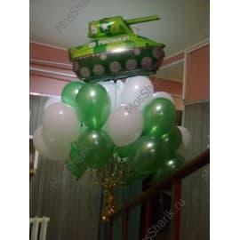30 шариков и шарик в виде танка