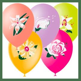 Шарики с цветочками
