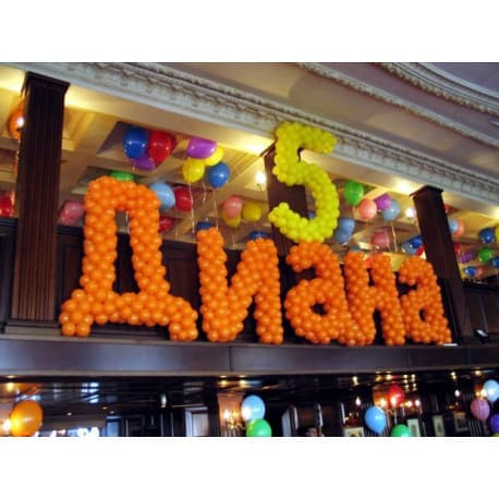Надпись из шаров на день рождения