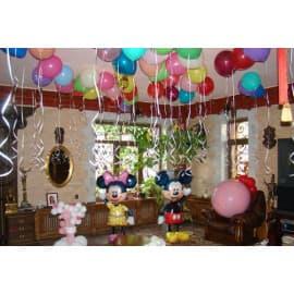 Оформление детского праздника гелиевыми разноцветными шарами и фигурами