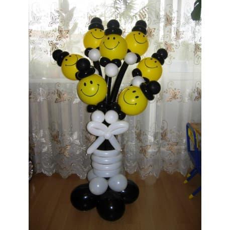 Человечки из шариков (Черный+белый)
