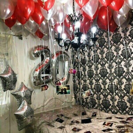 Оформление комнаты шарами на день рождения