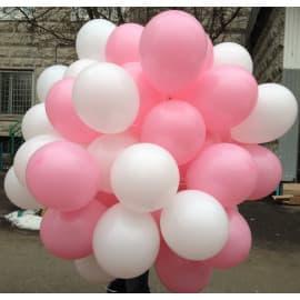 Набор воздушных шаров (белый + розовый)