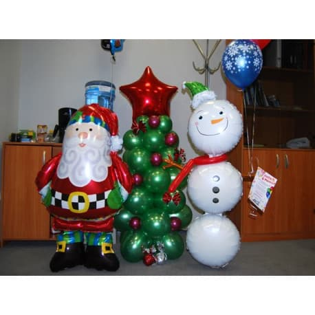 "Ходячий новогодний шар: ""Дед Мороз"""