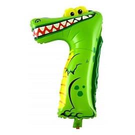 """Шарик """"Цифра 7"""" (Крокодил)"""