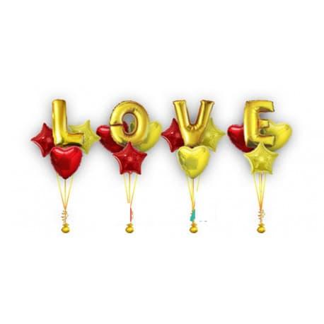 Фольгированные шары love (композиция)