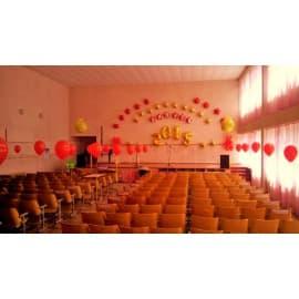 Украшение зала на последний звонок шарами