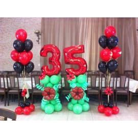 Украшение шарами на юбилей 35 лет