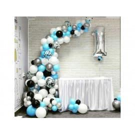 Разнокалиберная арка из шаров на 1 годик