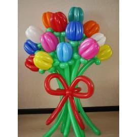"""Букет цветов из шаров """"Тюльпаны"""" (15 шт.)"""