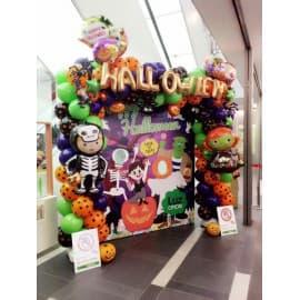 Фотозона из шаров на Хэллоуин