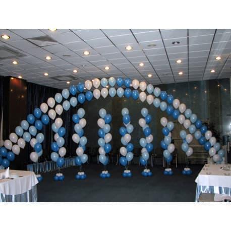 Две огромных гелиевых цепочки и 8 фонтанов из шаров