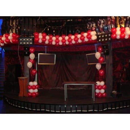 Пример оформления сцены шарами