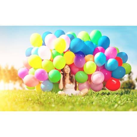 Разноцветные гелиевые шарики