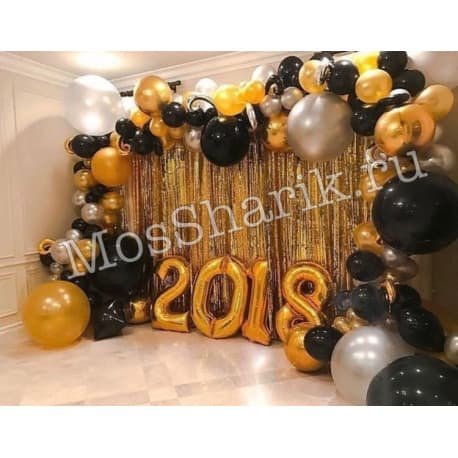 Фотозона из шариков на выпускной