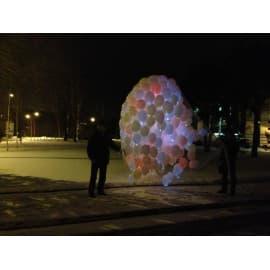 Запуск светящихся шаров