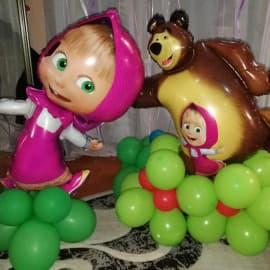 Фигуры из шаров: Маша Миша