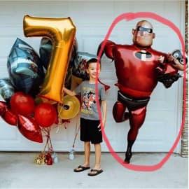 """Воздушный шарик: Ходячая фигура """"супер папа"""""""