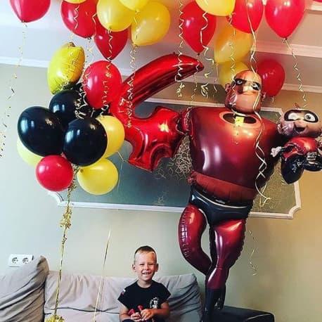 """Комплект воздушных шариков: """"супер папа"""""""