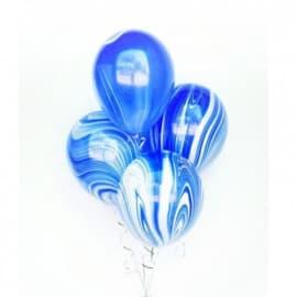 """Воздушные шары """"Агаты"""" синие"""