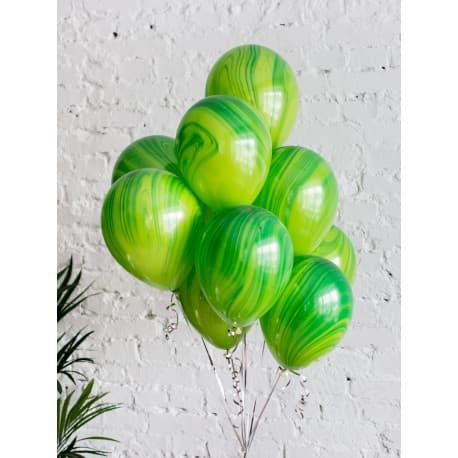 Воздушные шарики: Агаты. Зеленые.