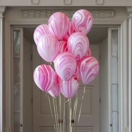 """Воздушные шарики """"Агаты"""" розово-фиолетовые"""