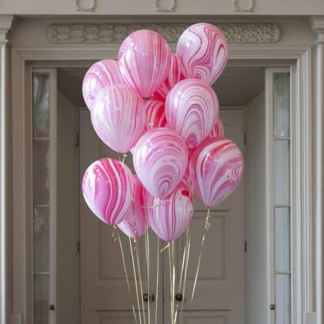 Воздушные шарики: Агаты. Розово-фиолетовые