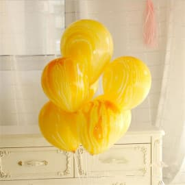 """Воздушные шары """"Агаты"""" желтые"""