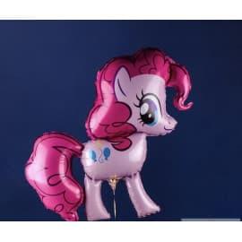 Фольгированный шарик: Пони (розовая)