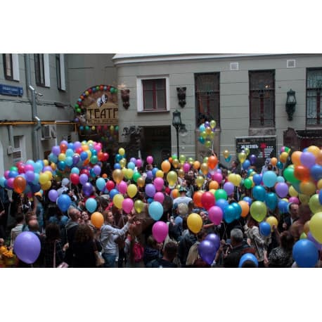 Разноцветные воздушные шарики 100шт.