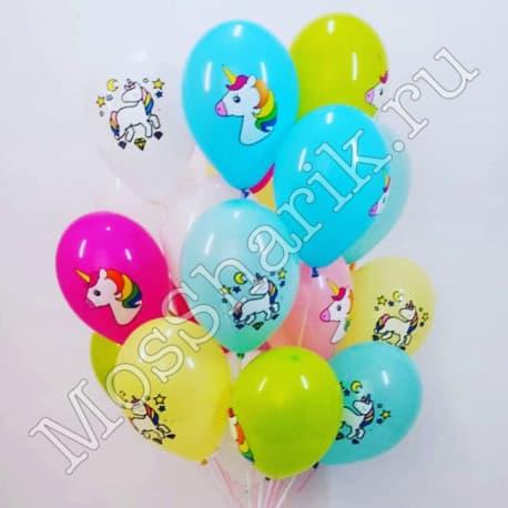 Гелиевые шарики с единорогами